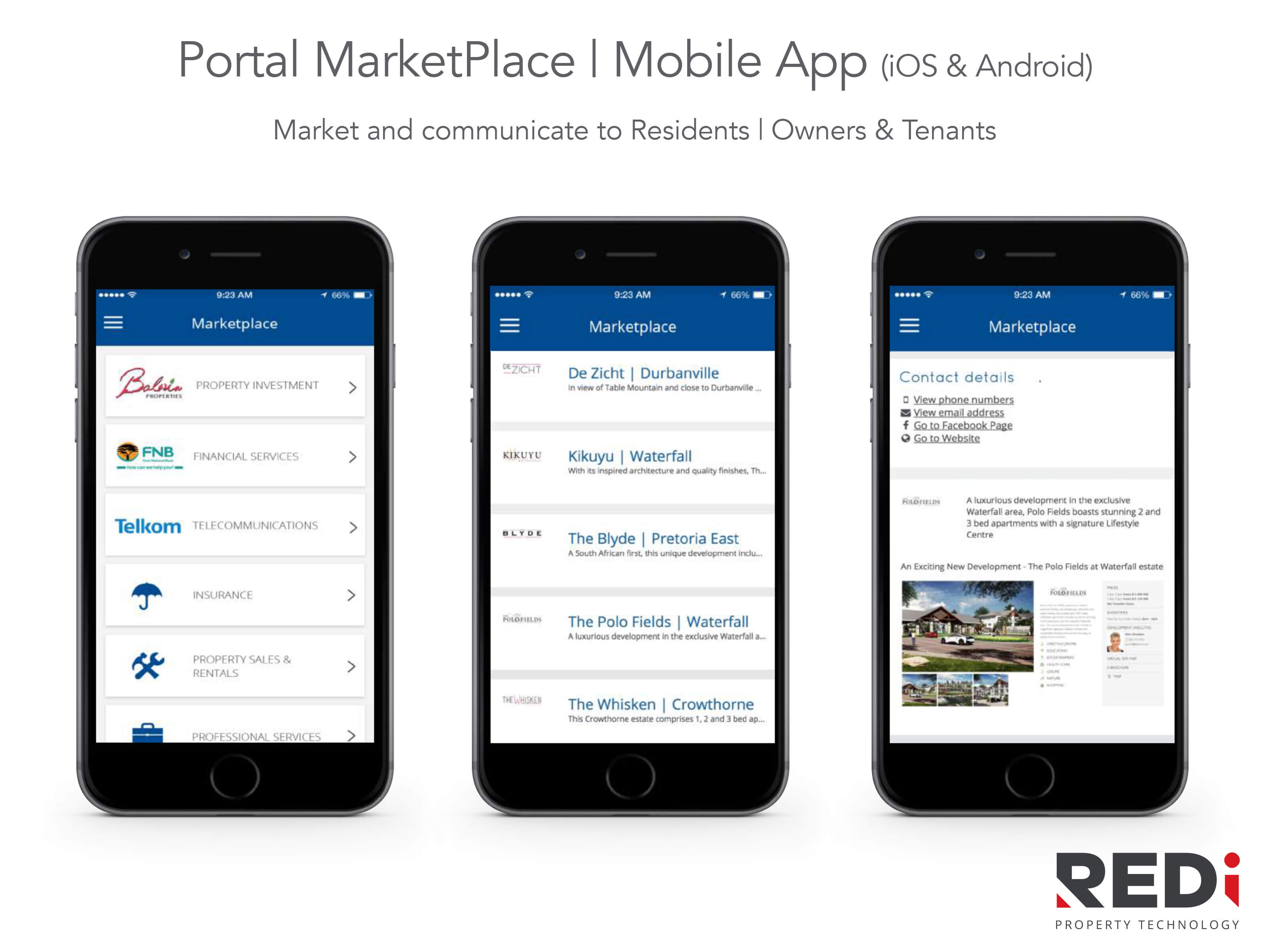 comm portal market mobile - REDi