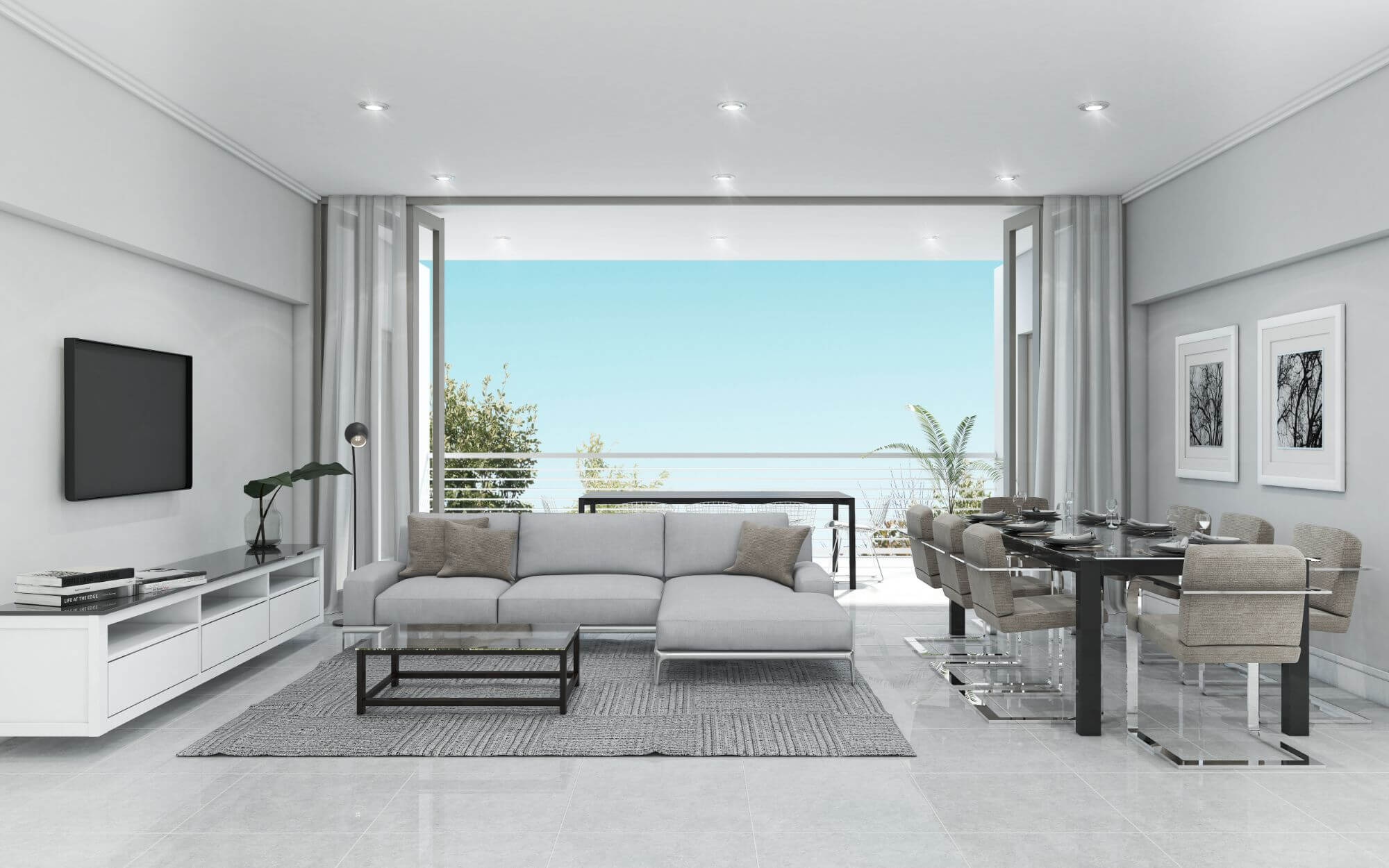 The Melrose Interior Living and Dining View Final - Melrose View