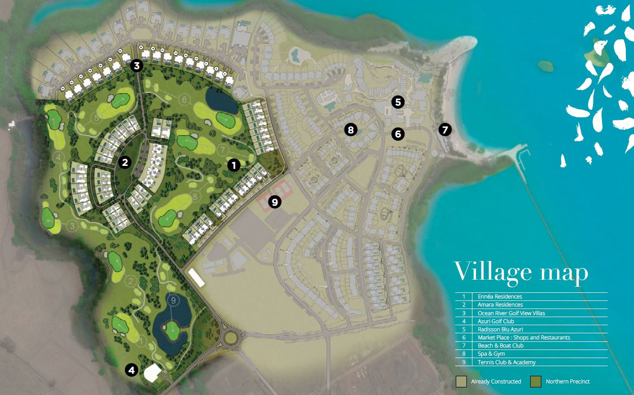 map - Azuri Ocean & Golf Village