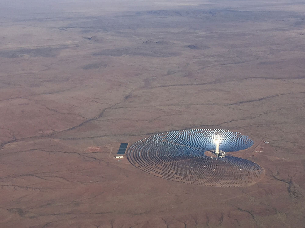 Aerial view from an airplane of a solar plant in the northern cape of south africa near the town of Upington - IRP 2019: What does it mean for developers