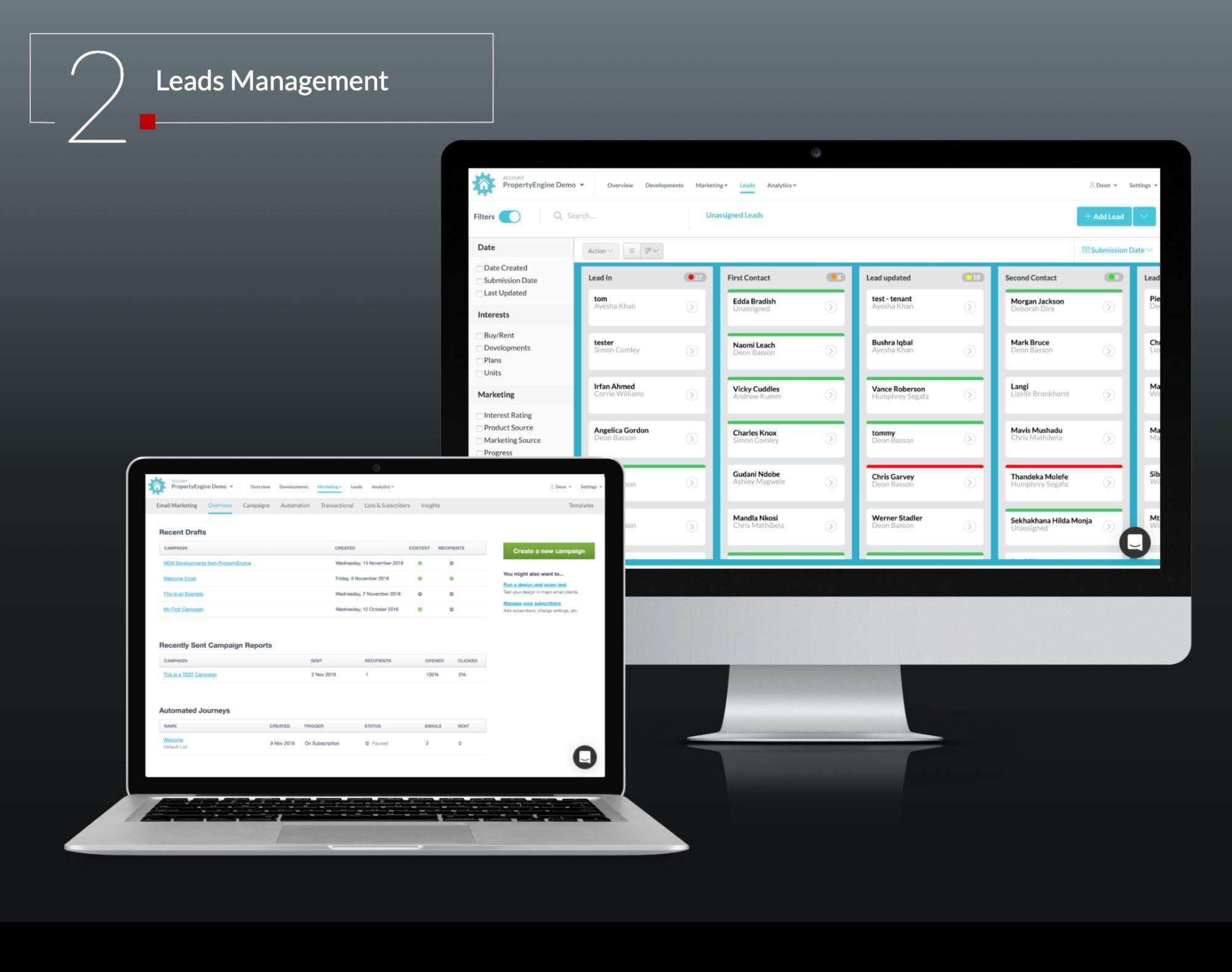 REDi Leads Management Visual - REDi Property Technology